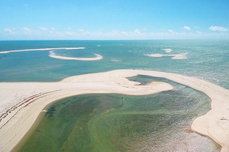 Praia de Macapá, no Piauí