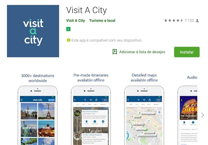 Aplicativo que cidades e regiões dos Estados Unidos