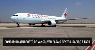 Mapa do aeroporto de Vancouver