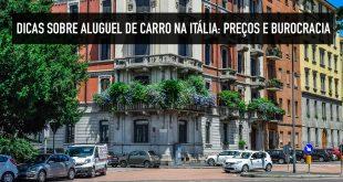 Preço do aluguel de carro na Itália