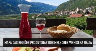 Regiões produtoras de vinho na Itália