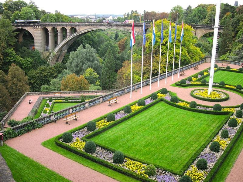Paisagens lindas em Luxemburgo