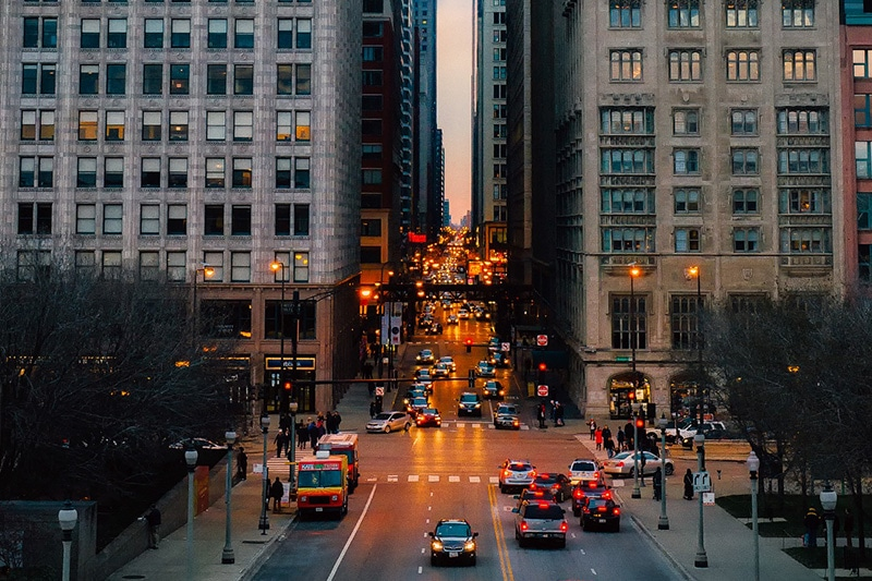 Vida noturna em Chicago