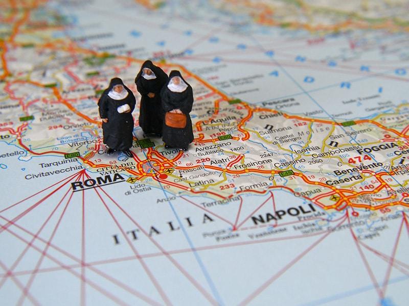 Visto por motivos religiosos para Itália