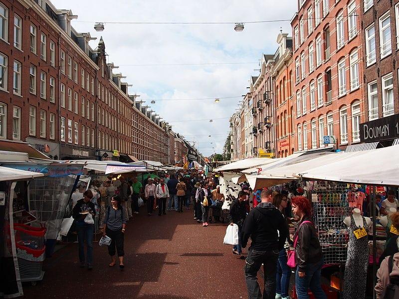 Mercados e feitas em Amsterdam
