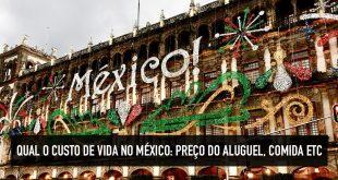 Preço do aluguel, comida no México
