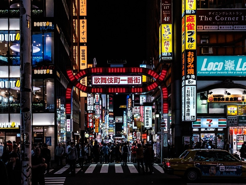 Vida noturna em Tokyo