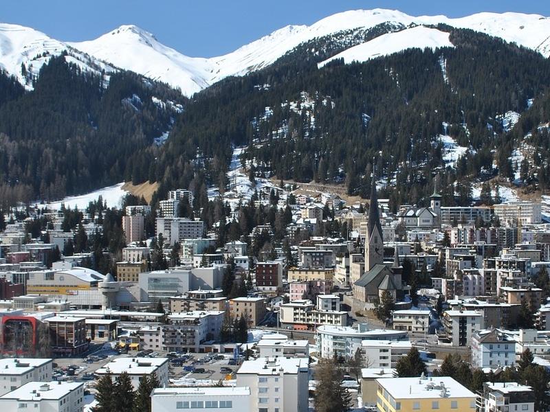 Lugares nos alpes suíços para passar inverno