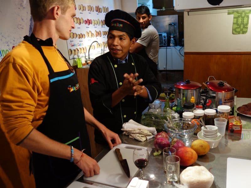 Passeio para aprender a cozinhar comida peruana