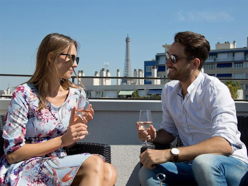 Vista dos pontos turísticos de Paris