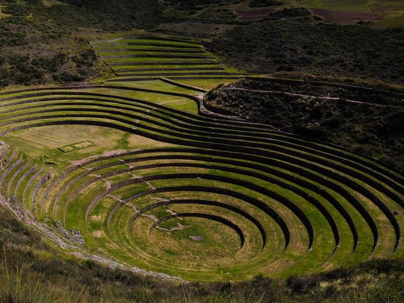 Visita às construções incas no Peru