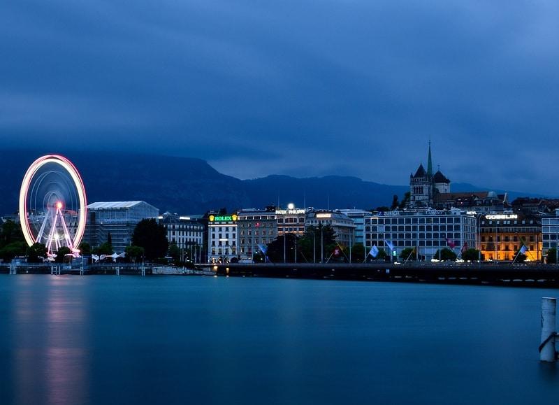 Melhores vistas de Genebra no inverno