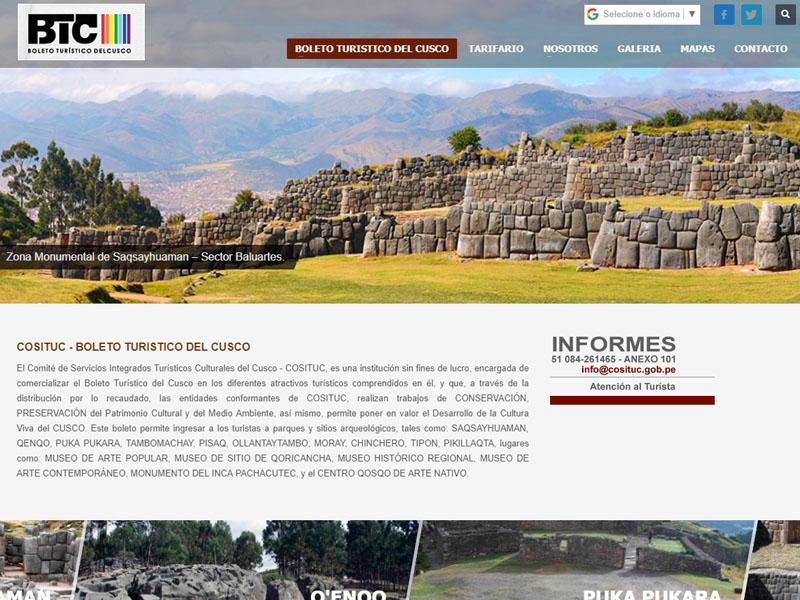 Como funciona o boleto turístico de Cusco?