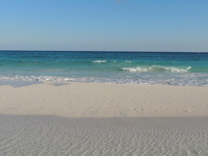 Praia xpu-ha na Riviera Maya