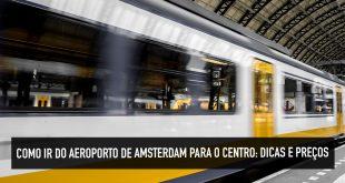 Transporte público no aeroporto de Amsterdam