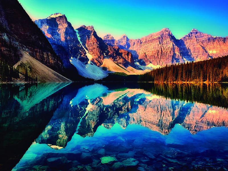 Lago Moraine Lake pontos turísticos do Canadá