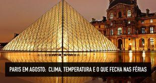 Clima de Paris em agosto
