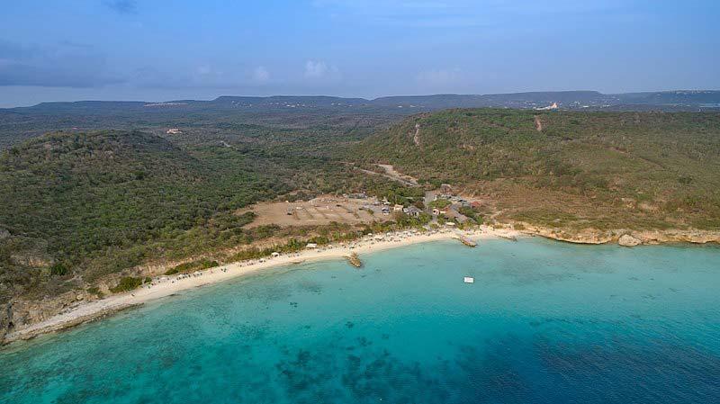 Praias escondidas em Curaçao