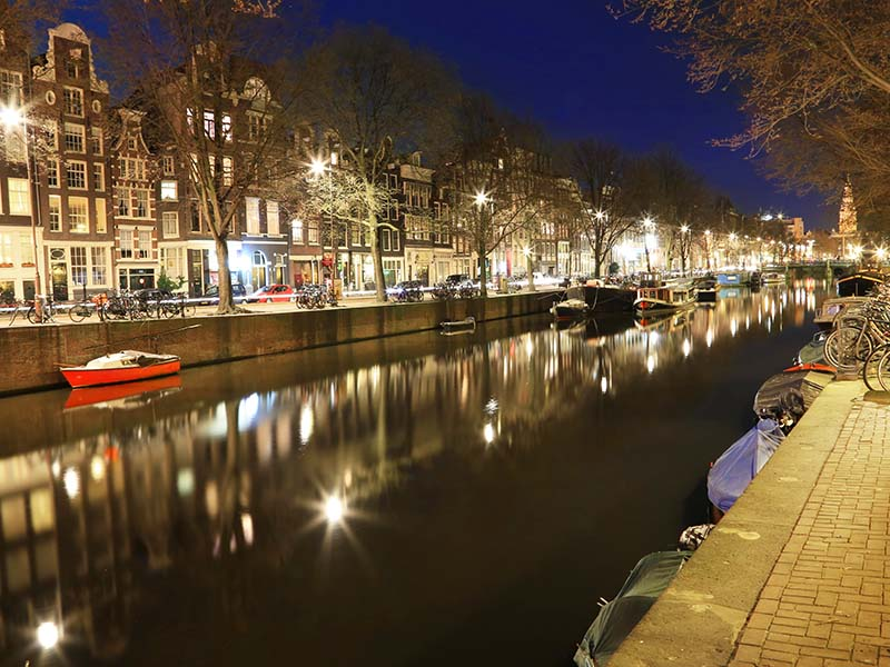 Vida noturna em Amsterdam