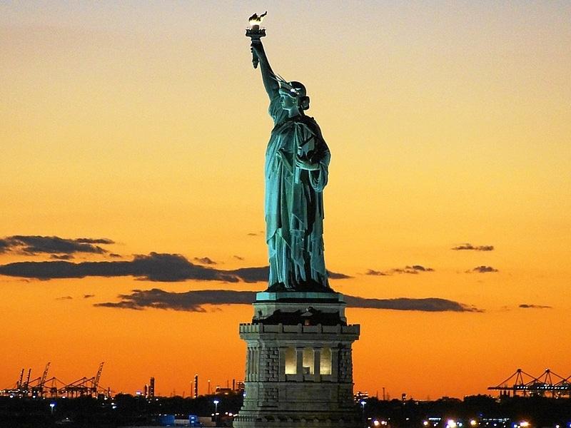Mapa turístico dos Estados Unidos
