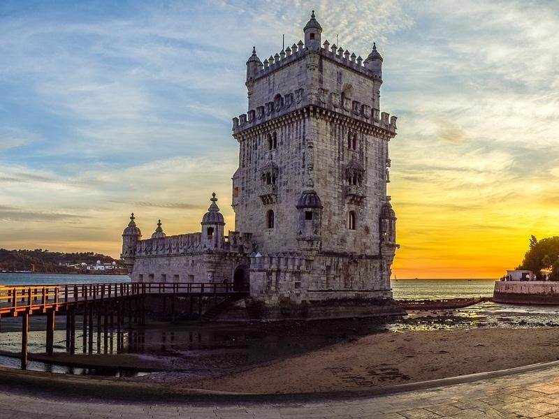 Pontos turísticos históricos em Lisboa