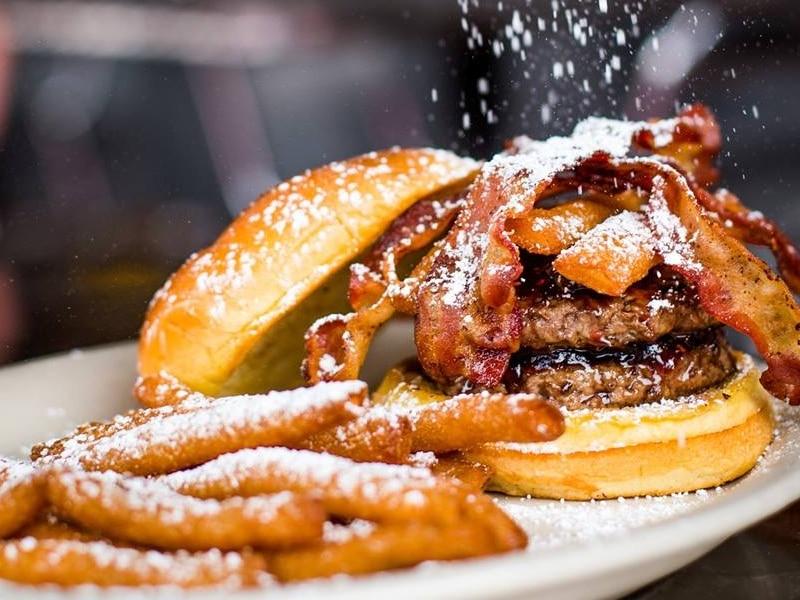 Comida típica americana em Atlanta
