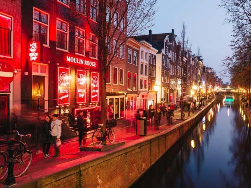 Passeios a noite em Amsterdam