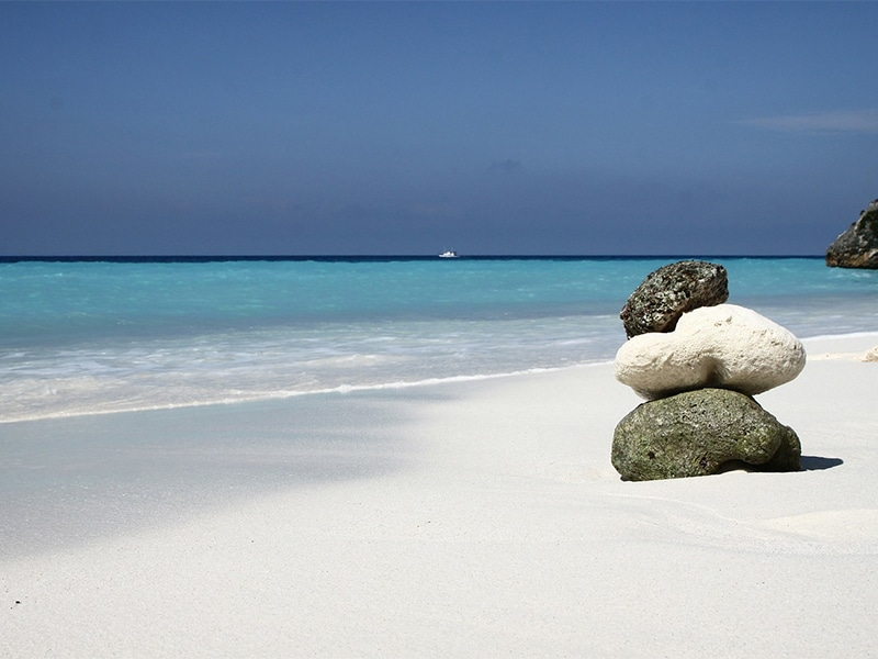 Praias do Caribe muito tranquilas paradisíacas