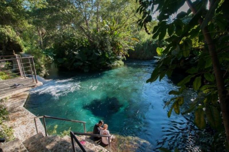Parque natural para acampar no México