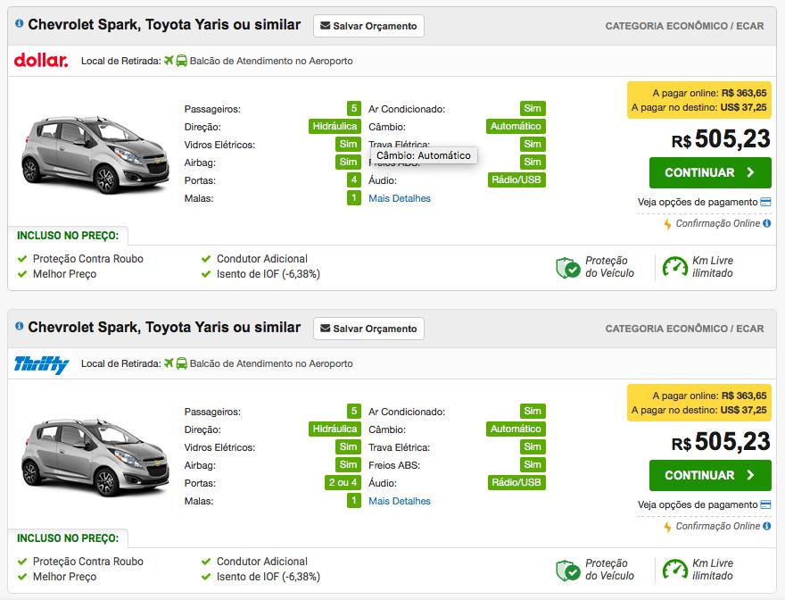 Como escolher o melhor carro para alugar
