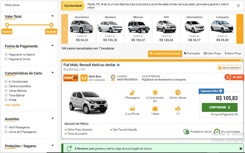 Alugar carro é caro?
