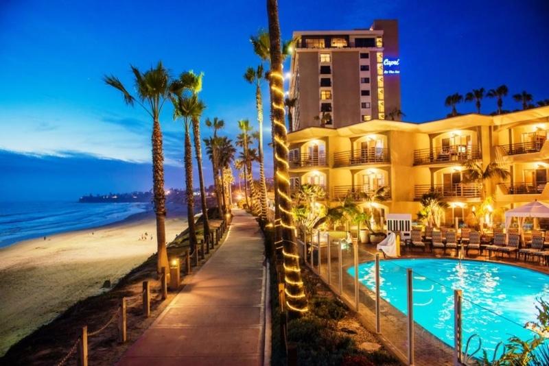 Hotel na beira da praia em San Diego