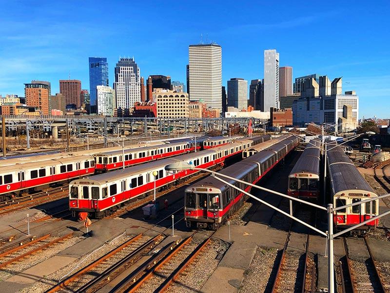 Como pegar trem em Boston