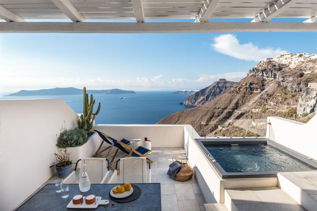 Hotel de luxo em Santorini