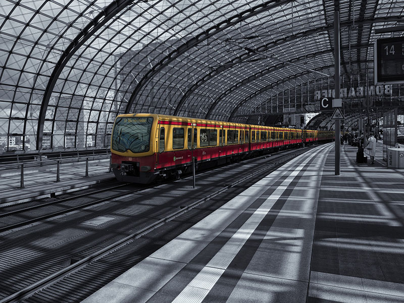 transporte eficiente na Alemanha