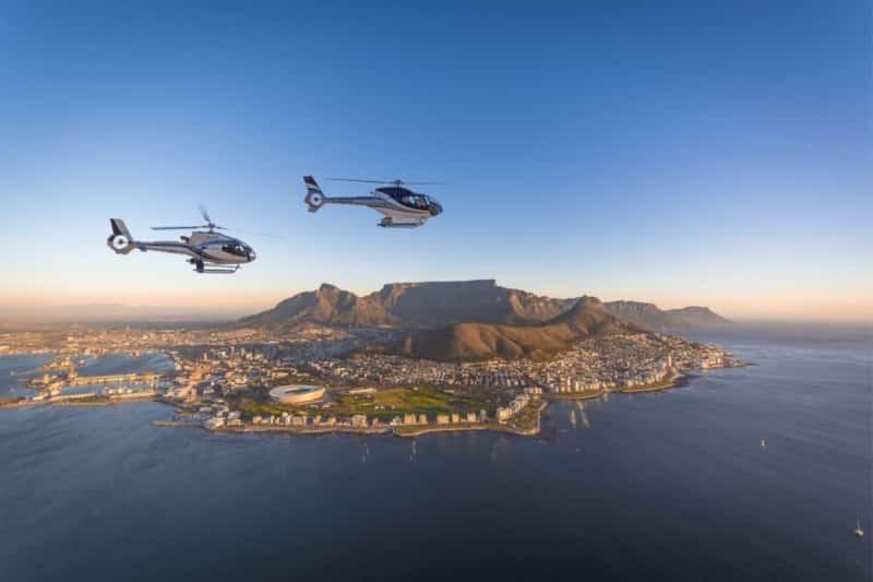 Passeio de helicóptero em Cape Town