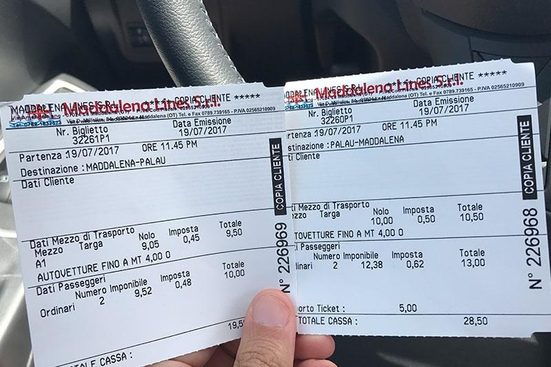 Ferry para La Maddalena