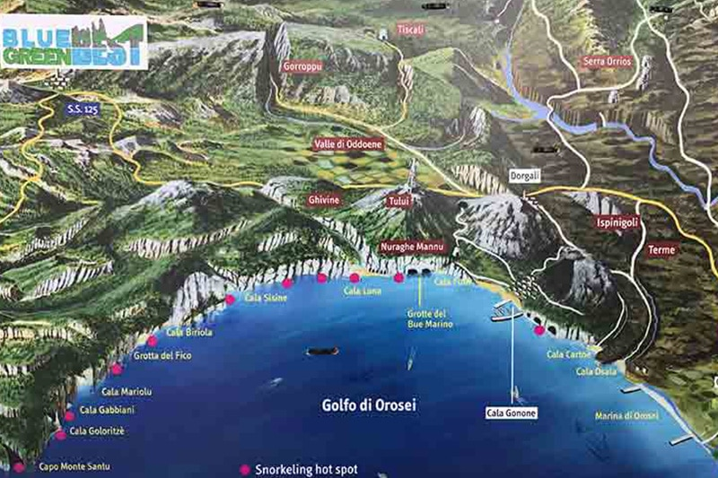 Mapa da Sardenha