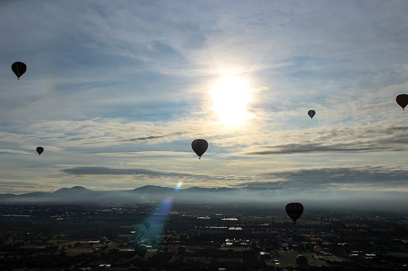 Quanto custa voar de balão no México