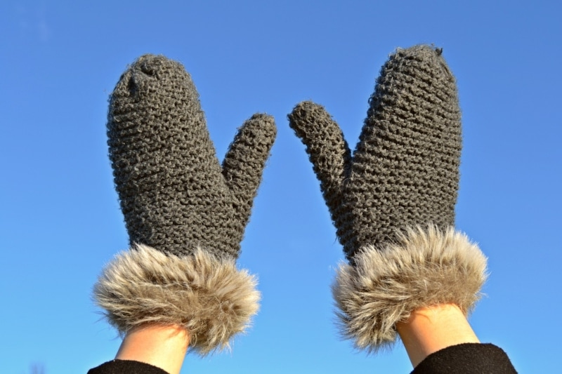 Luvas de inverno para o Canadá