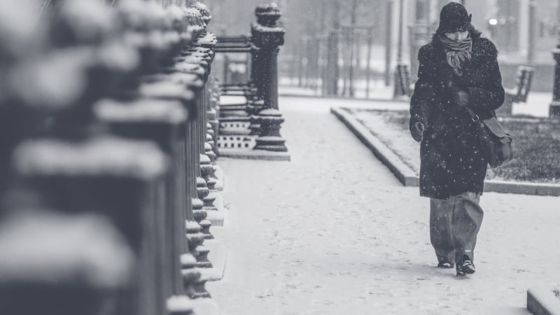 Mala para inverno no Canadá