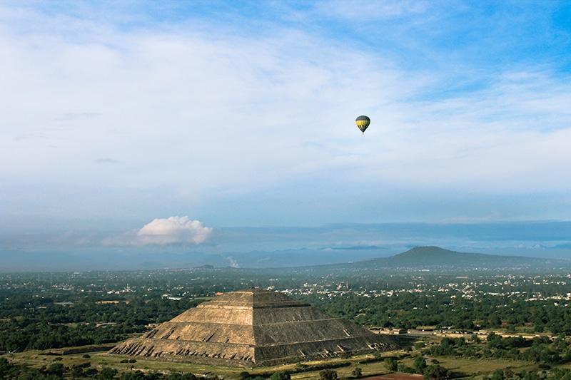 Passeio de balão no México