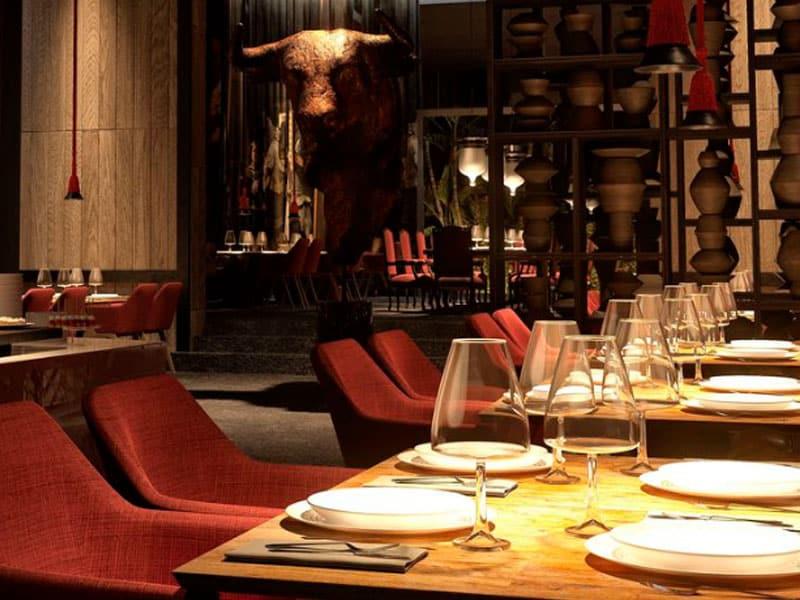 Restaurante de resort de luxo no México