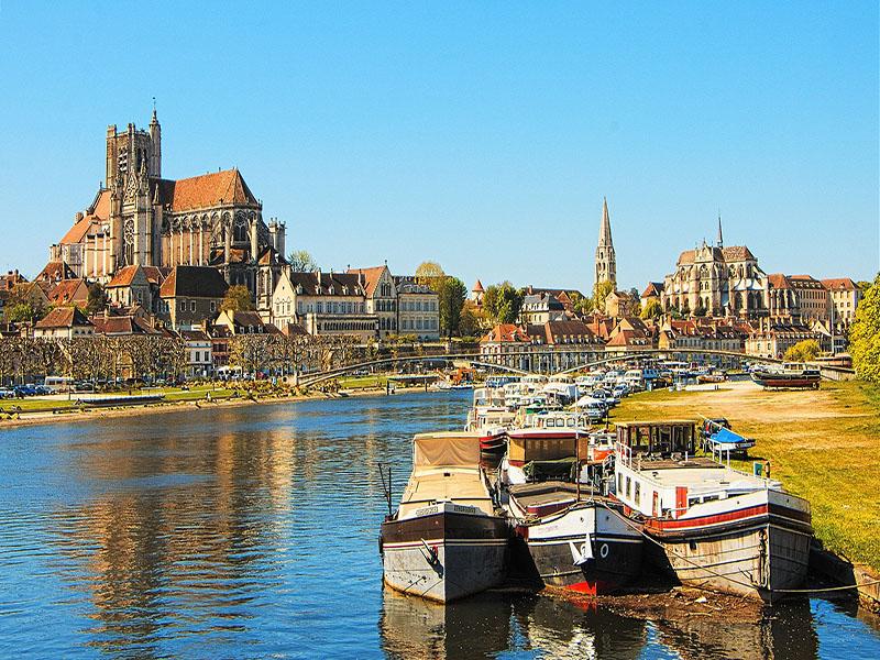 Cidades da região Bourgogne-Franche-Comtéc, na França