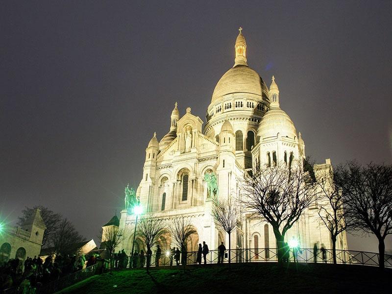 Pontos turísticos de Paris no frio