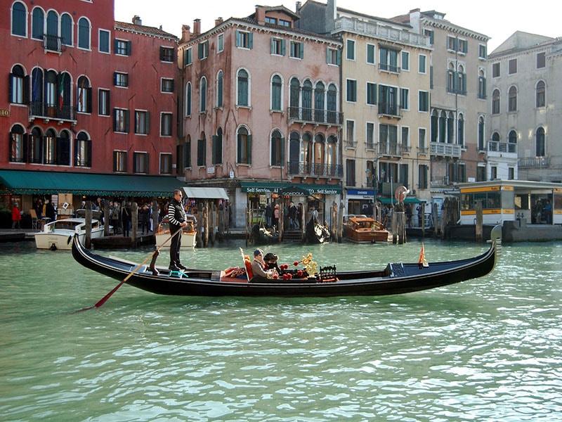 Roteiro em Veneza, na Itália