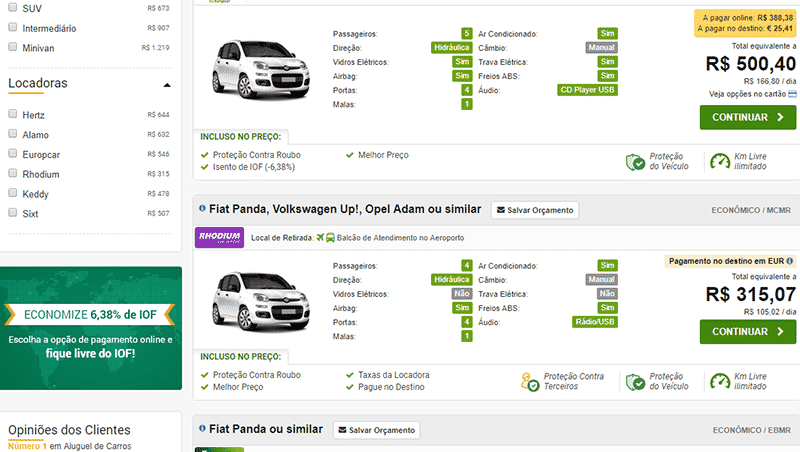 Aluguel RentCars