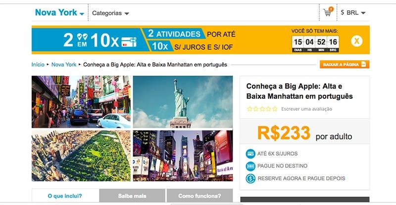 Valor de um guia brasileiro em Nova York