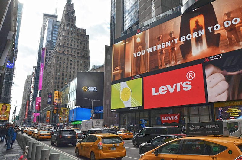 Onde fica a Times Square?