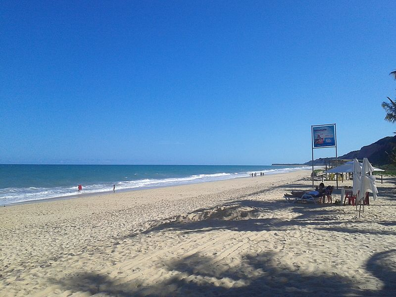 Prais de areia branca na Bahia